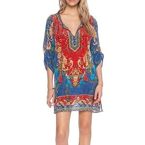 Dresses & Skirts - Boho African Print Shift Dress. NWT Small